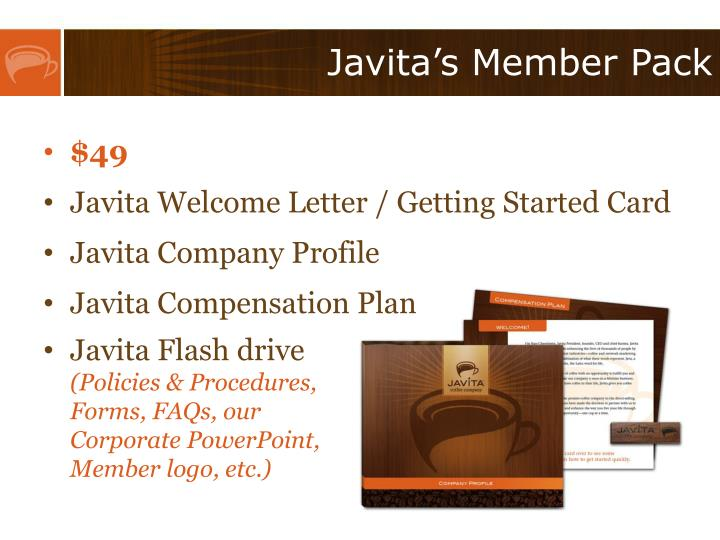Javita's Member Pack
