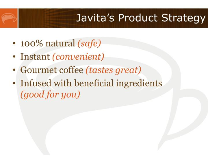 Javita's Product Strategy