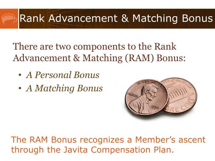 Rank Advancement & Matching Bonus