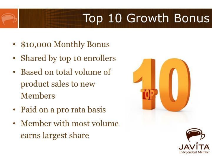 Top 10 Growth Bonus