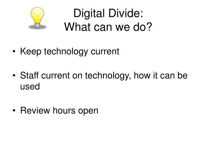 Digital Divide: