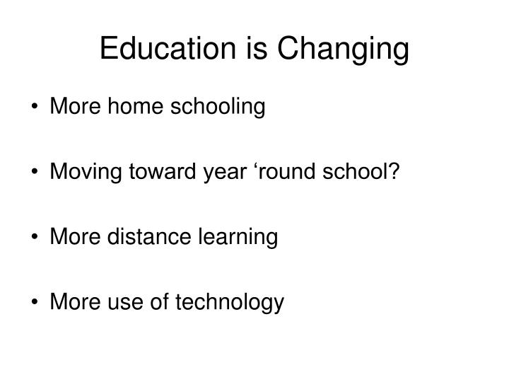 Education is Changing