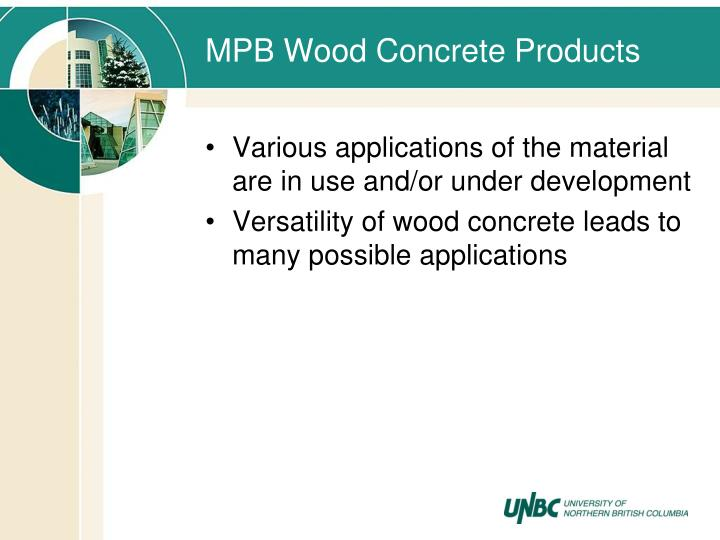 MPB Wood Concrete Products