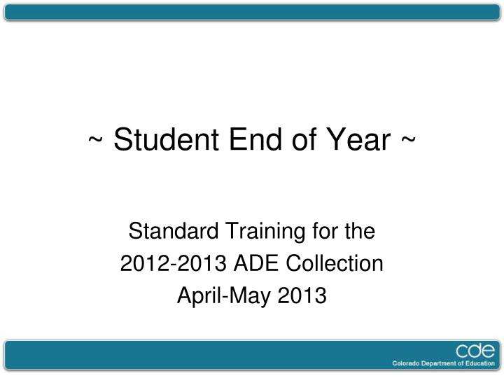 student end of year n.