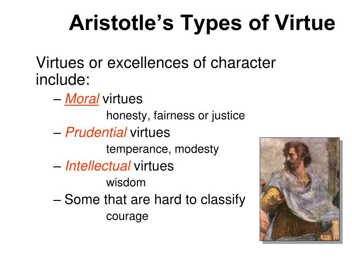 a discussion of aristotles ideas on virtues Aristotle taught that virtue is not something that simply happens while people may have particular strengths or weaknesses of character, all sane humans can learned and cultivate virtue it is a habit that is practiced and strengthened with use.