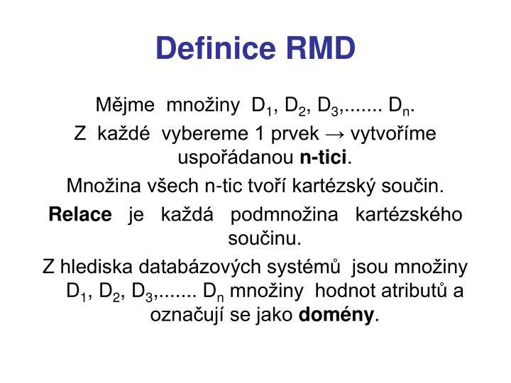 Definice rmd