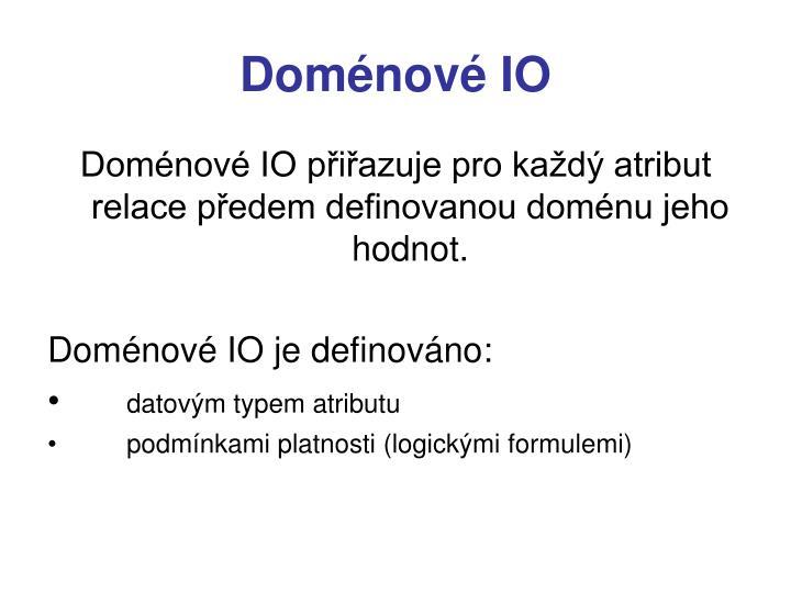 Doménové IO