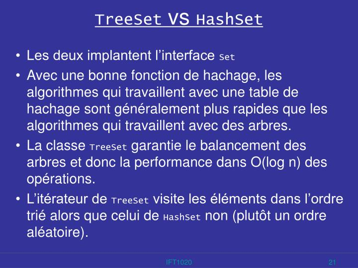 TreeSet
