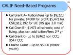 calif need based programs
