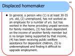 displaced homemaker