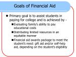 goals of financial aid