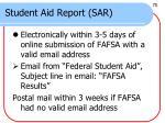 student aid report sar1