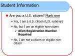 student information2