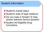 student information3