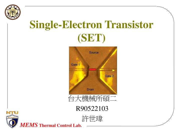 single electron transistor set n.