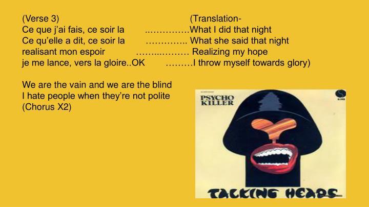 (Verse 3)                                                   (Translation-