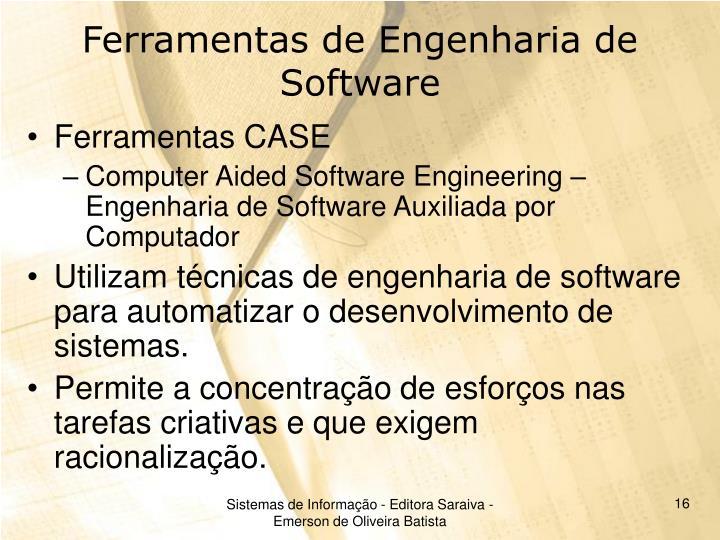 Ferramentas de Engenharia de Software