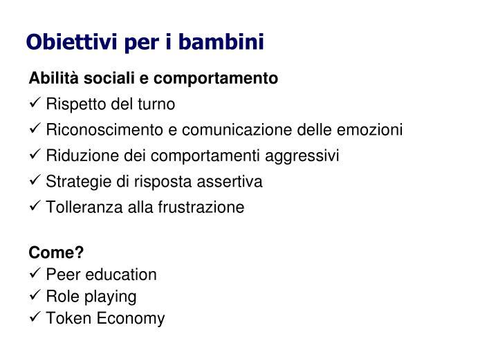 Abilità sociali e comportamento