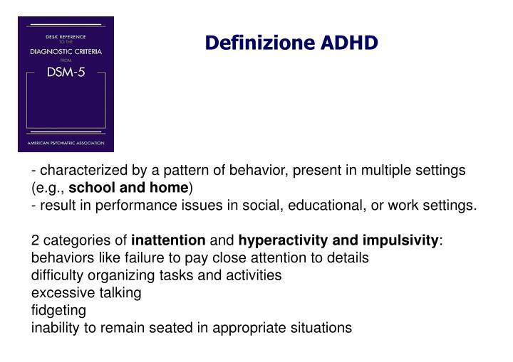 Definizione ADHD
