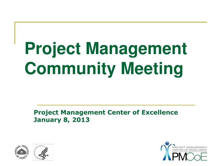 project management community meeting n.