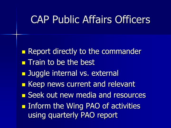 Cap public affairs officers