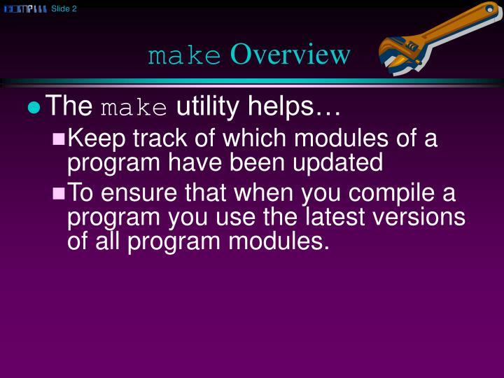 Make overview