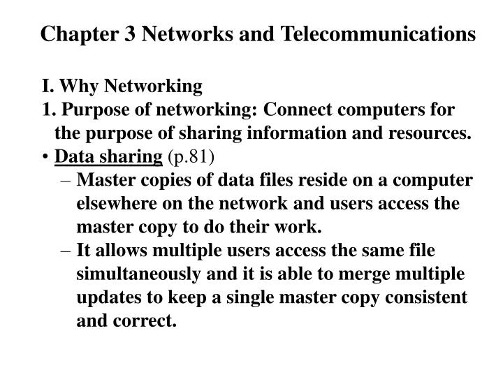 chapter 3 networks and telecommunications n.