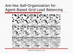 ant like self organization for agent based grid load balancing