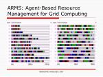 arms agent based resource management for grid computing