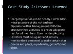 case study 2 lessons learned