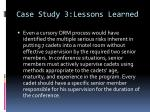 case study 3 lessons learned