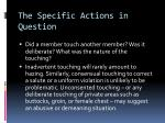 the specific actions in question3