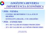 log stica reversa import ncia econ mica