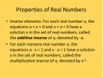 properties of real numbers5