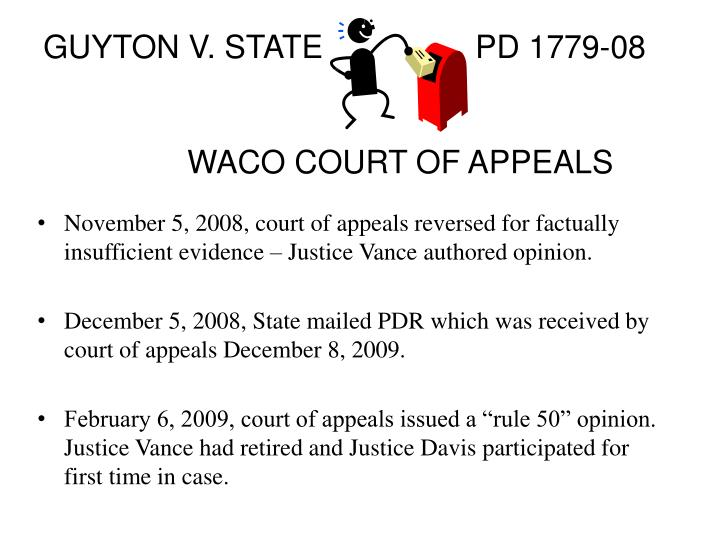 GUYTON V. STATE			PD 1779-08
