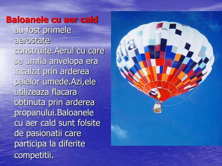 Baloanele cu aer cald