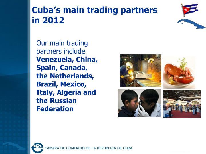 Cuba's main trading partners