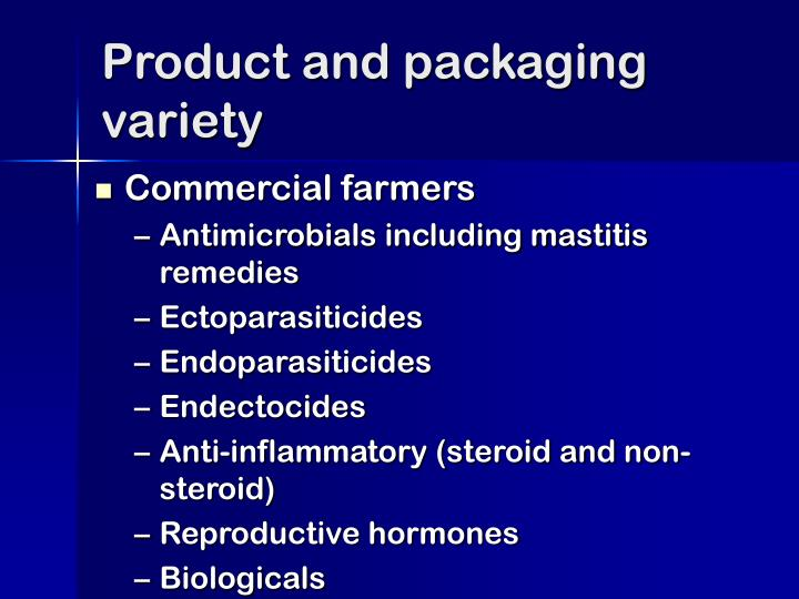 Product and packaging variety