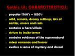 gothic lit characteristics