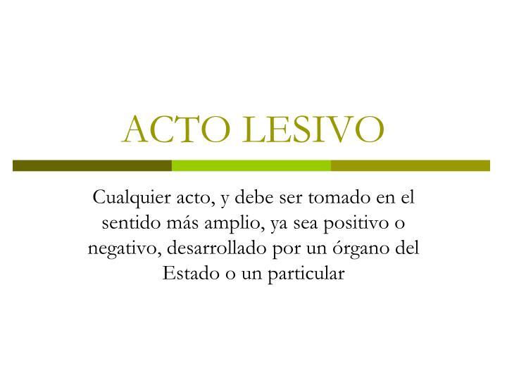ACTO LESIVO