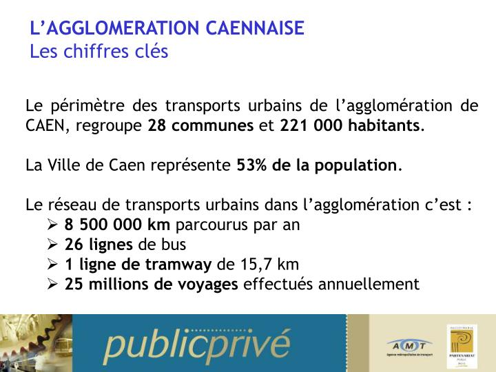 L agglomeration caennaise les chiffres cl s