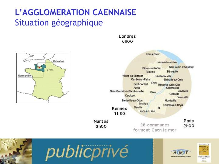 L agglomeration caennaise situation g ographique