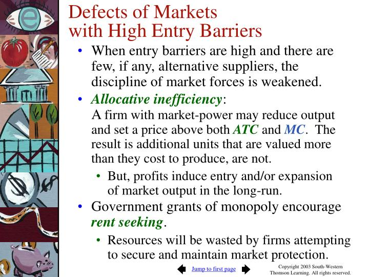 non price barriers to entry Abstract big drive auto s creation of a price strategy will provide fair prices and increase consumer demand for products and lower competition the use of.