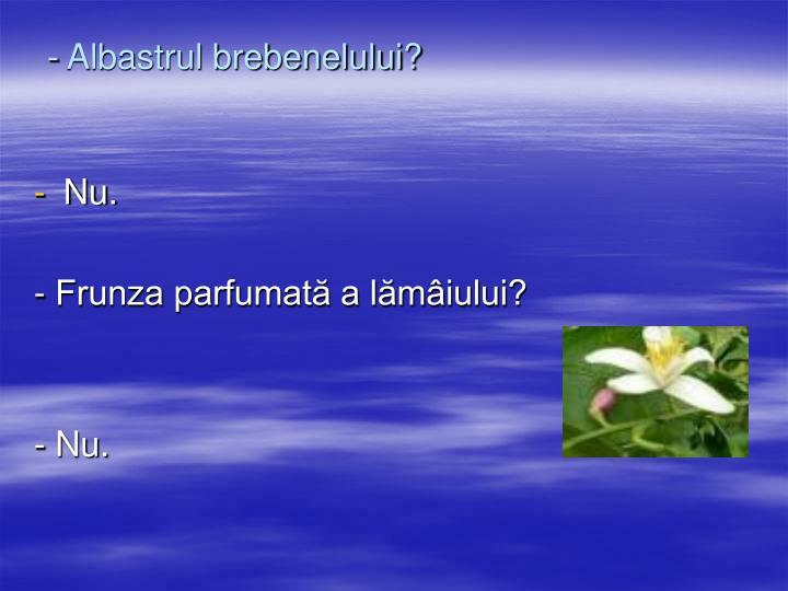 - Albastrul brebenelului?