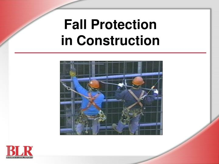 fall protection in construction n.