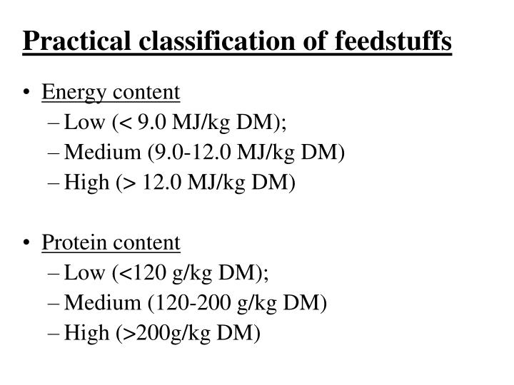 Practical classification of