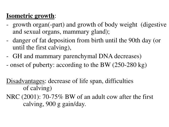 Isometric growth