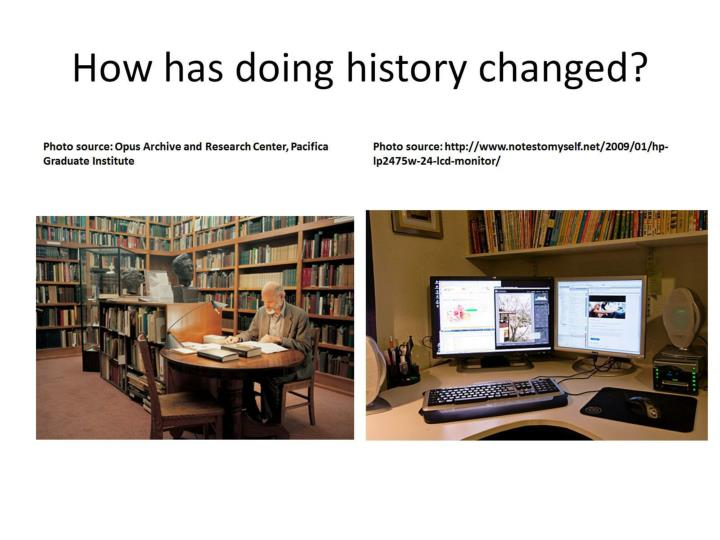 How has doing history changed