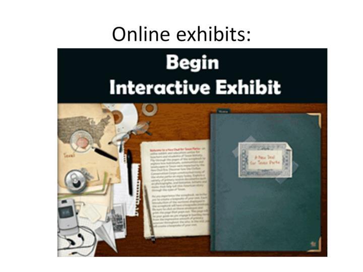 Online exhibits: