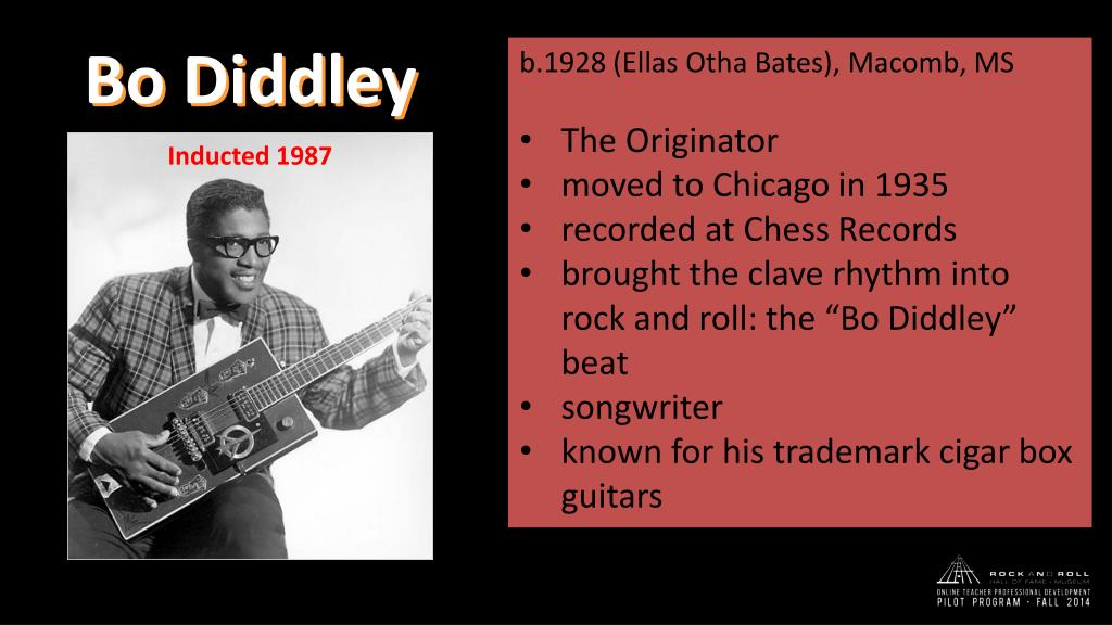 PPT - Bo Diddley PowerPoint Presentation - ID:3759275